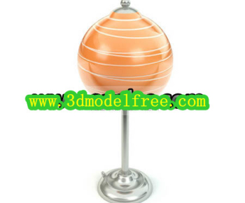 Lollipop shape table lamp 3D model