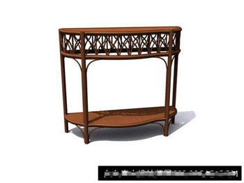 Chinese wood carving showcase 3D model