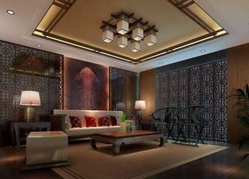 Chinese-style living room scene model