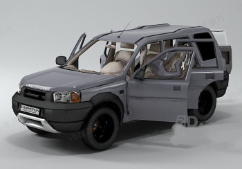 Silver-gray sport utility vehicle model