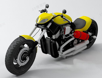 Yellow motorcycle model