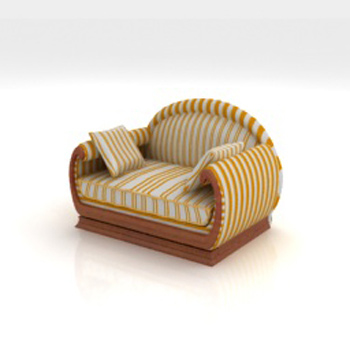 The villages Single leisure sofa 3D model