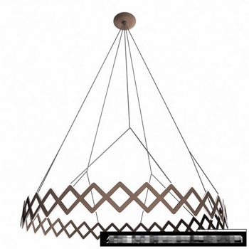 Simple wrought iron chandeliers 3D model