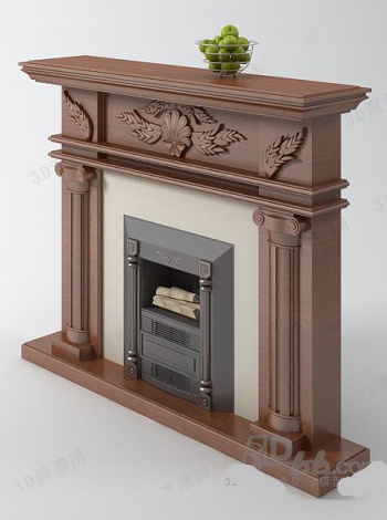 European fireplace model