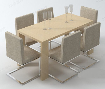 Casual style tables and chairs combination