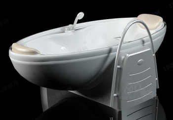 Luxurious bathtub model