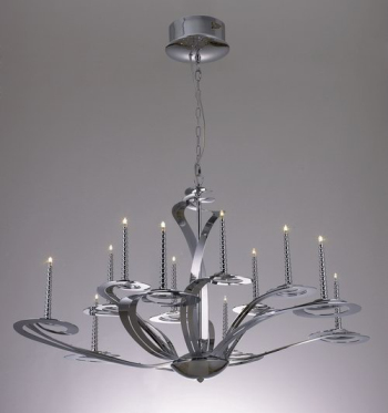 European classical 3D model of a large wrought iron chandelier