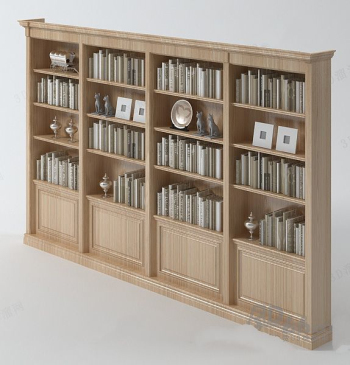 Solid wood bookcase model