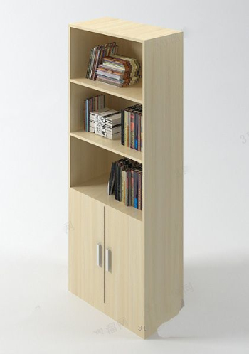 Simple bookcase model
