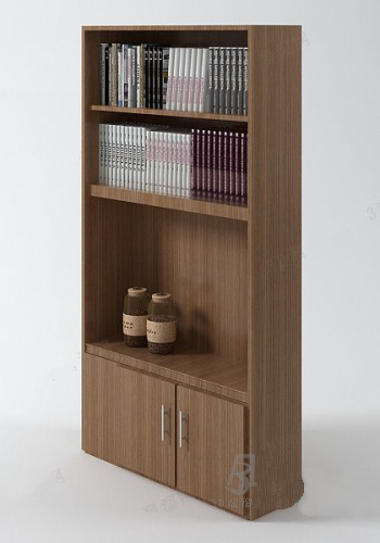 Brown bookcase model