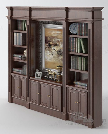 Wood portfolio bookcase model