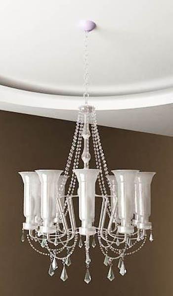White crystal chandelier Model