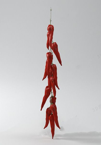 3d model of red pepper