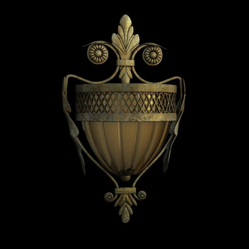 European classical wall lamp 3D models