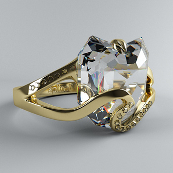 Fashion Diamond Ring 3D models