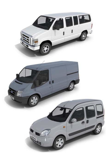 Three commercial vehicles 3D model