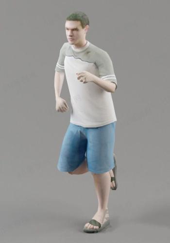 Men Are Running Model 3d Model Download Free 3d Models