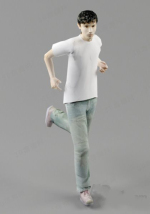 white T-shirt boy model doll model