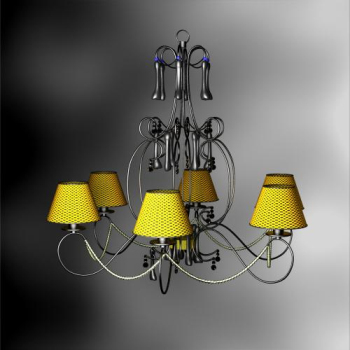 Pastoral style braided chandeliers 3D models