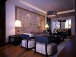 Chinese modern and spacious living room model atmospheric multi-seat
