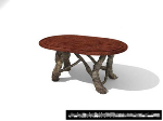 Carvings coffee table 3D model