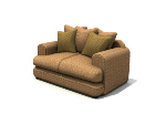 Interior fabric sofa 3d models