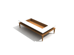 Fashion rectangular coffee table
