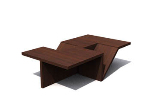 Dark irregular geometric coffee table