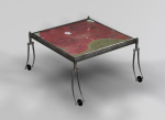 Alternative personality wrought iron coffee table 3D model