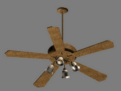 3D models of electric fans with light