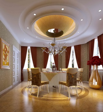 Palatial hotel-style rooms restaurant model