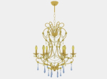 European nobility golden crystal candle chandelier