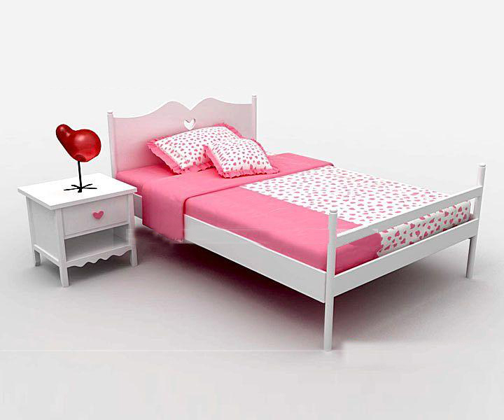 Pink Angel small bed