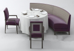 Triple combination of tables and chairs