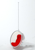 Luxury red hanging chair 3d model