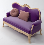 Fashion purple sofa model Multiplayer