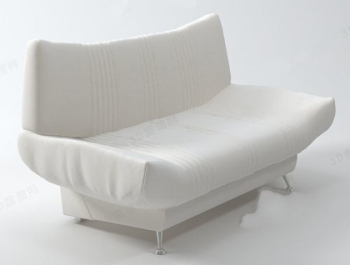 White sofa fashion model people