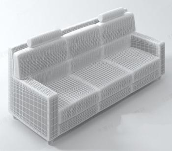 Fashion model white mesh sofa