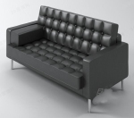 Fashion model black sofa
