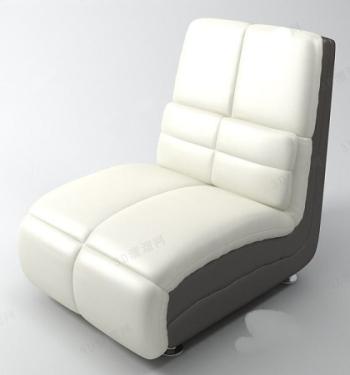 Modern white sofa chair model