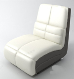 Modern white sofa chair model