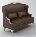 Modern brown sofa chair model