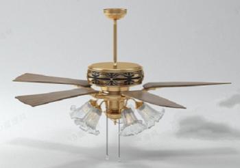 Golden ceiling fan model