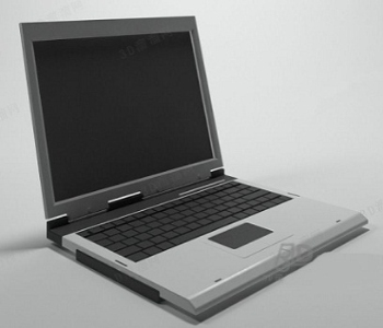 White laptop model