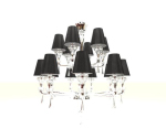 Crystal glass chandelier 3D models