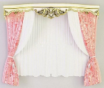 Cute pink curtains 3d models