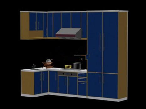 Blue cabinets 3d model