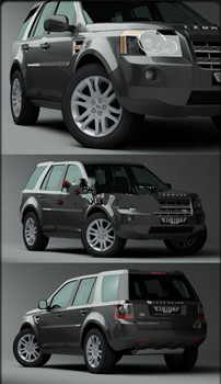 High Precision Land Rover coupe model