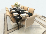Modern style dining table model