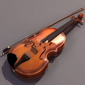 3d model of high-grade violin